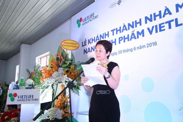 BS. Nguyễn Ánh Vân phát biểu tại buổi lễ