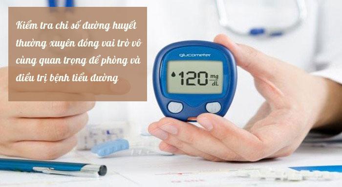 Kiểm tra đường huyết thường xuyên cần thiết cho phòng bệnh tiểu đường