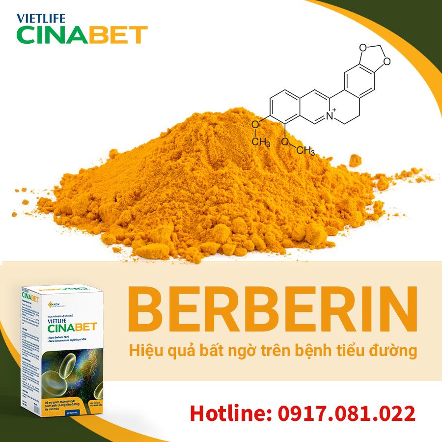 berberin trị triểu đường, trị tiểu đường bằng berberin, berberin, berberin hạ đường huyết, chữa tiểu đường bằng berberin, berberin giúp giảm đường huyết, berberin giam duong huyet, cinabet, nano cinabet, vietlife cinabet, nano berberin, sản phẩm cinabet, cinabet cho bệnh tiều đường