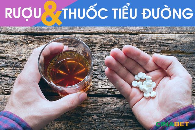 Rượu gây ra một số tác hại nguy hiểm khi đang dùng thuốc điều trị tiểu đường