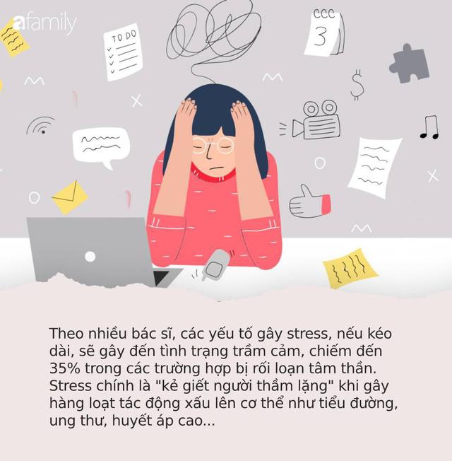 Công việc, cuộc sống khiến nhiều người stress