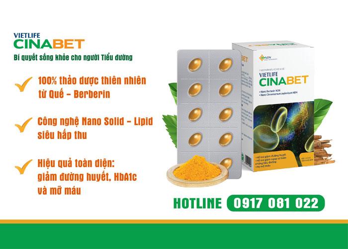 Cinabet - sản phẩm được người bệnh tiểu đường, mỡ máu tin tưởng lựa chọn